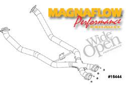 Exhaust - Crossover Pipes - MagnaFlow - MagnaFlow Transition Tru-X Crossover Pipe - 15444