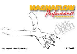 Exhaust - Crossover Pipes - MagnaFlow - MagnaFlow Transition Tru-X Crossover Pipe - 15447