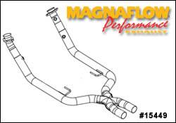 Exhaust - Crossover Pipes - MagnaFlow - MagnaFlow Transition Front Section Tru-X Crossover Pipe - 15449