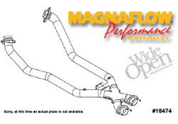 Exhaust - Crossover Pipes - MagnaFlow - MagnaFlow Transition Tru-X Crossover Pipe - 15474
