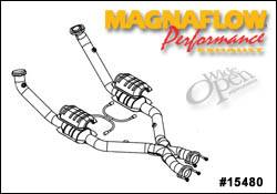 Exhaust - Crossover Pipes - MagnaFlow - MagnaFlow Transition Tru-X Crossover Pipe - 15480