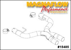 Exhaust - Crossover Pipes - MagnaFlow - MagnaFlow Transition Clamp On Front Tru-X Crossover Pipe - 15485