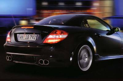 Exhaust - Custom Fit Exhaust - Lorinser - Mercedes-Benz SLK Lorinser Sport Exhaust Rear Silencer with Twin Oval Tip - 490 0171 00