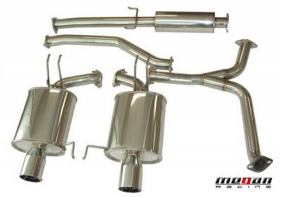 Exhaust - Custom Fit Exhaust - Megan Racing - Honda Accord 2DR Megan Racing OE-RS Series Cat-Back System - MR-CBS-HA08V6