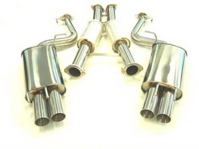 Exhaust - Custom Fit Exhaust - Megan Racing - Nissan 300Z Megan Racing Type 2 Series Cat-Back System - MR-CBS-N300T2