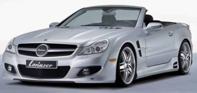 Grilles - Custom Fit Grilles - Lorinser - Mercedes-Benz SL Lorinser F01 Look Front Grille Insert for Edition Front Bumper Spoiler - 488 0230 25
