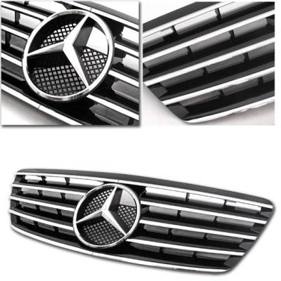 Grilles - Custom Fit Grilles - MotorBlvd - S Class CL Style Black Grille 03-06