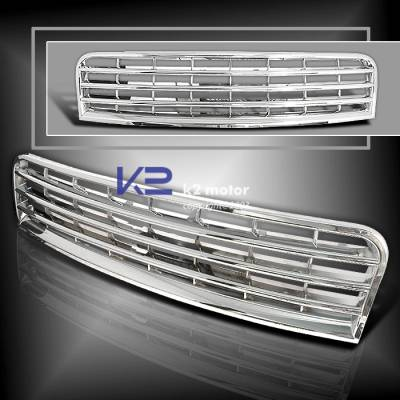 Grilles - Custom Fit Grilles - K2 - Sports Front Grille - Chrome