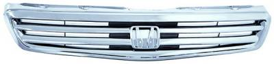 Grilles - Custom Fit Grilles - In Pro Carwear - Honda Civic 4DR IPCW Chrome Grille - CWG-HD0907D0C