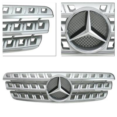Grilles - Custom Fit Grilles - MotorBlvd - MERCEDES-BENZ W163 ML-CLASS CHROME GRILLE AND EMBLEM