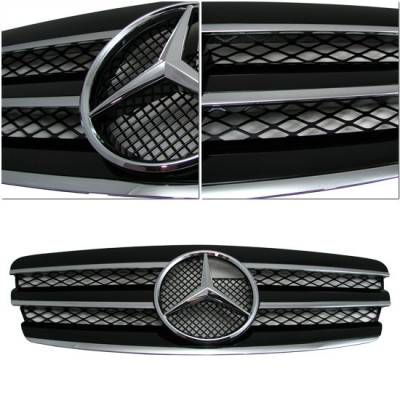Grilles - Custom Fit Grilles - Motor Blvd - Black 3 Fin E Class Grill
