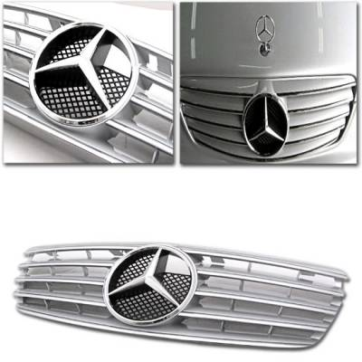 Grilles - Custom Fit Grilles - Motor Blvd - Silver AMG Style Grille