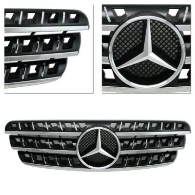 Grilles - Custom Fit Grilles - MotorBlvd - MERCEDES-BENZ ML-CLASS W164-STYLE BLACK GRILLE