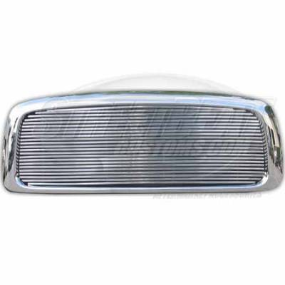 Macro Automotive - Macro Automotive Chrome Metal Grille Full Opening Stainless Steel Tube Insert - ZSFD99SDT