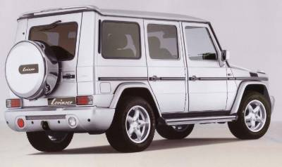 Spoilers - Custom Wing - Lorinser - Mercedes-Benz G Class Lorinser Roof Wing with Third Brake Light - 488 2171 00
