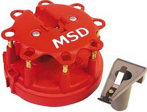 Ignition Systems - Distributors - MSD - Ford MSD Ignition Distributor Cap & Rotor Kit - Duraspark - 8450