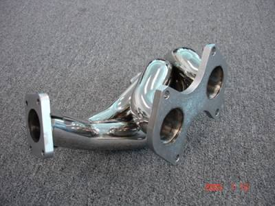 Exhaust - Exhaust Manifolds - Megan Racing - Mazda RX-7 Megan Racing Exhaust Manifold - T-304 Stainless Steel - MR-SSH-MRX93