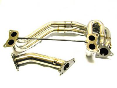 Exhaust - Exhaust Manifolds - Megan Racing - Subaru WRX Megan Racing Exhaust Manifold - T-304 Stainless Steel - MR-SSH-SI02