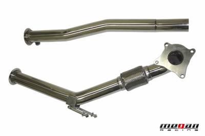 Exhaust - Exhaust Pipes - Megan Racing - Volkswagen Jetta Megan Racing Exhaust Downpipe - T304 Stainless Steel - MR-SSDP-VWG0620T