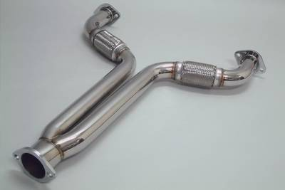 Exhaust - Exhaust Pipes - Megan Racing - Nissan 350Z Megan Racing Exhaust Downpipe - T304 Stainless Steel - MR-Y-PIPE-350Z