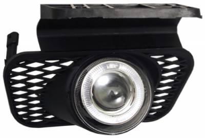 Headlights & Tail Lights - Fog Lights - In Pro Carwear - Chevrolet Silverado In Pro Carwear Halo Projector Fog Lights - CWF-337C2
