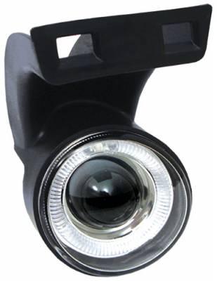 Headlights & Tail Lights - Fog Lights - In Pro Carwear - Dodge Ram In Pro Carwear Halo Projector Fog Lights - CWF-401C2