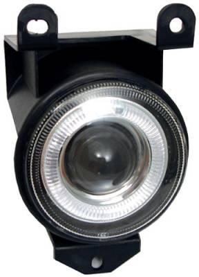 Headlights & Tail Lights - Fog Lights - In Pro Carwear - GMC Yukon In Pro Carwear Halo Projector Fog Lights - CWF-610C2