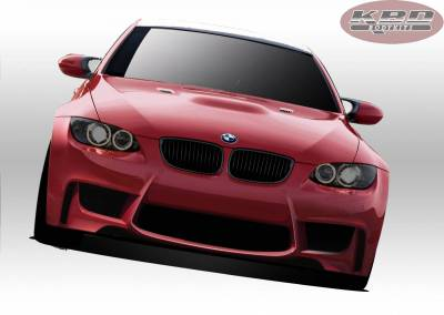 3 Series 2Dr - Front Bumper - KBD - BMW M3 KBD 1M Front Bumper 37-6011