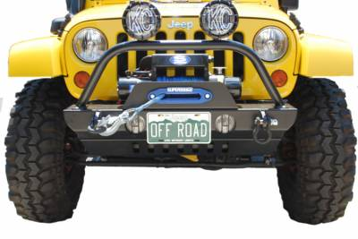 Hyline Offroad - Jeep Wrangler Hyline Offroad Crawler Front Bumper - JK-10CFB