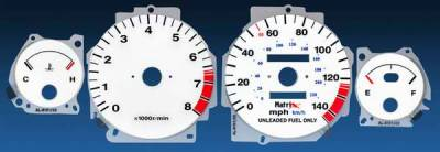 Car Interior - Gauges - Matrix - Reverse Speed Glo Gauges - 11078