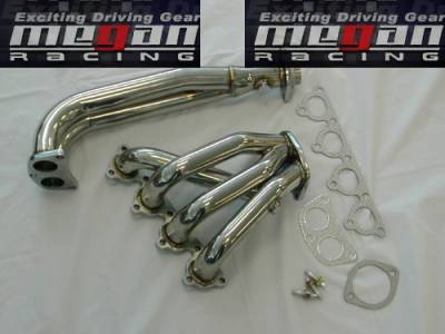 Exhaust - Headers - Megan Racing - Honda Prelude Megan Racing Exhaust Header - T304 Stainless Steel - MR-SSH-HP92VT