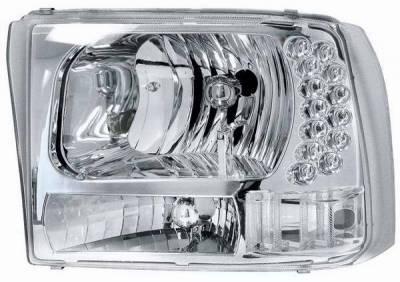 Headlights & Tail Lights - Headlights - Matrix - Diamond Back Headlights with LED Lights - 1PC - 0911311CC