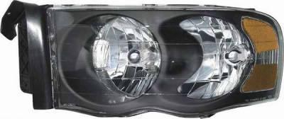 Headlights & Tail Lights - Headlights - Matrix - Diamond Back Headlights with Black Housing - 091208B