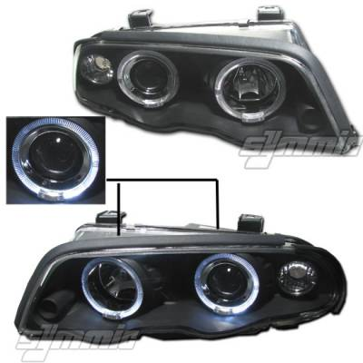 MotorB - 1 PC Projector Headlights - Black