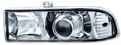 Headlights & Tail Lights - Headlights - In Pro Carwear - Chevrolet S10 IPCW Headlights - Projector - 1 Pair - CWC-CE17