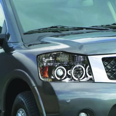 Headlights & Tail Lights - Headlights - In Pro Carwear - Nissan Armada IPCW Headlights - Projector - 1 Pair - CWS-1114C2