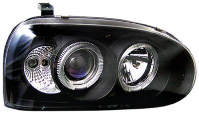 Headlights & Tail Lights - Headlights - In Pro Carwear - Volkswagen Golf In Pro Carwear Projector Headlights - CWS-1501B2