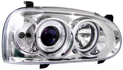 Headlights & Tail Lights - Headlights - In Pro Carwear - Volkswagen Golf In Pro Carwear Projector Headlights - CWS-1501C2