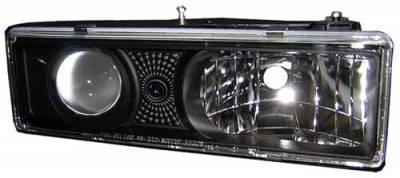 Headlights & Tail Lights - Headlights - In Pro Carwear - GMC C1500 Pickup In Pro Carwear Projector Headlights - CWS-303B2