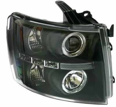 Headlights & Tail Lights - Headlights - In Pro Carwear - Chevrolet Silverado In Pro Carwear Projector Headlights - CWS-3040B2