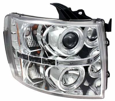 Headlights & Tail Lights - Headlights - In Pro Carwear - Chevrolet Silverado In Pro Carwear Projector Headlights - CWS-3040C2