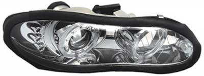 Headlights & Tail Lights - Headlights - In Pro Carwear - GMC Sierra In Pro Carwear Projector Headlights - CWS-3041C2