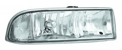Headlights & Tail Lights - Headlights - In Pro Carwear - Chevrolet S10 IPCW Headlights - Diamond Cut - 1 Pair - CWS-308