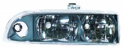 Headlights & Tail Lights - Headlights - In Pro Carwear - Chevrolet S10 IPCW Headlights - Diamond Cut - 1 Pair - CWS-308B2