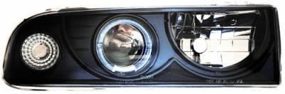 Headlights & Tail Lights - Headlights - In Pro Carwear - Chevrolet S10 In Pro Carwear Projector Headlights - CWS-310B2