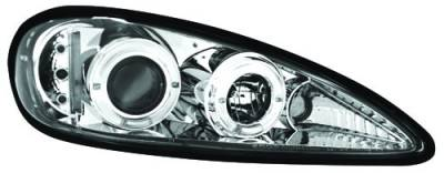 Headlights & Tail Lights - Headlights - In Pro Carwear - Pontiac Grand Am IPCW Headlights - Projector - 1 Pair - CWS-326C2