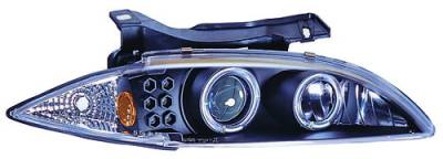Headlights & Tail Lights - Headlights - In Pro Carwear - Chevrolet Cavalier IPCW Headlights - Projector with Rings & Corners - 1 Pair - CWS-327B2