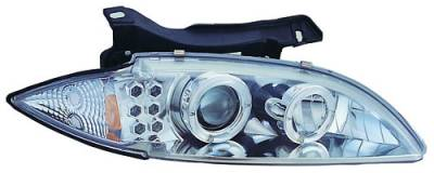Headlights & Tail Lights - Headlights - In Pro Carwear - Chevrolet Cavalier IPCW Headlights - Projector with Rings & Corners - 1 Pair - CWS-327C2