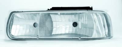 Headlights & Tail Lights - Headlights - In Pro Carwear - Chevrolet Silverado IPCW Headlights - Diamond Cut - 1 Pair - CWS-329