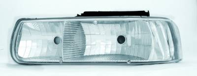 Headlights & Tail Lights - Headlights - In Pro Carwear - Chevrolet Suburban IPCW Headlights - Diamond Cut - 1 Pair - CWS-329